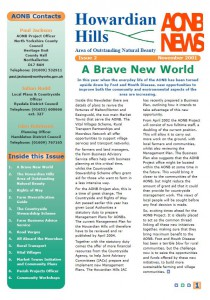 AONB News 2001 front cover